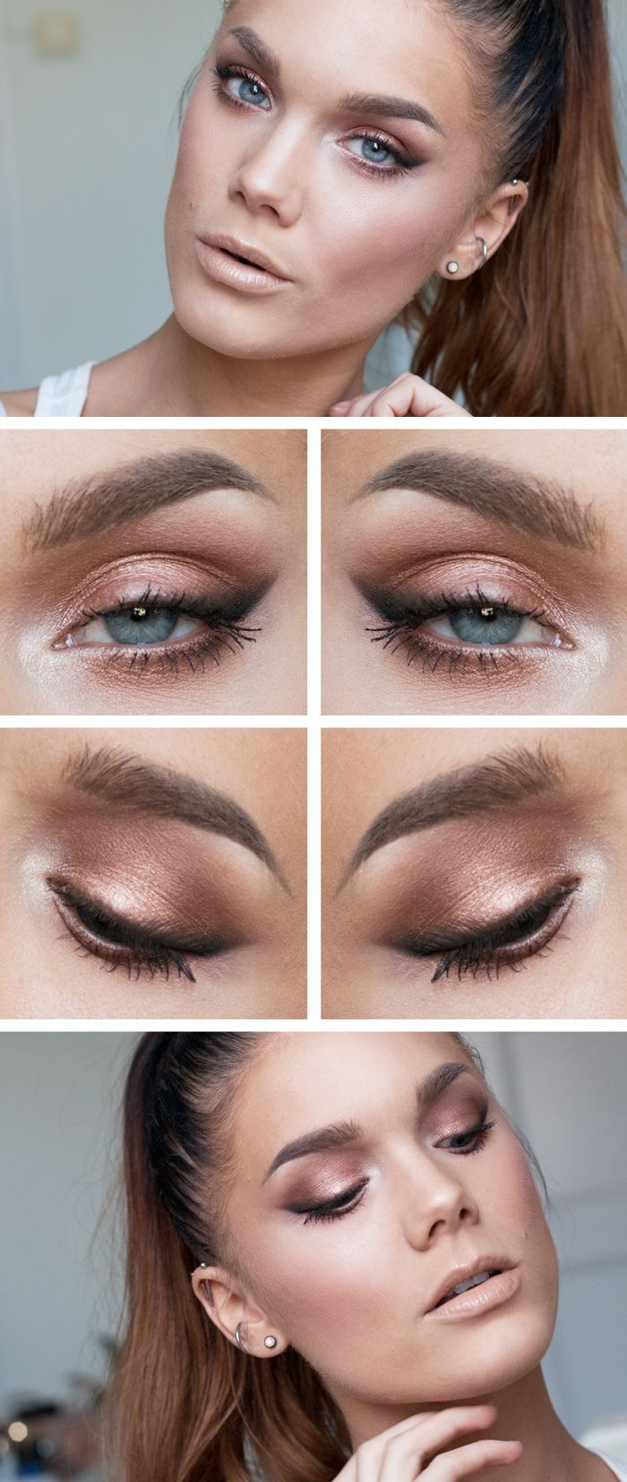 Pretty Makeup With The Eye Glitters 2052994: Simple Yet Stylish Light Makeup Ideas To Try For Daily