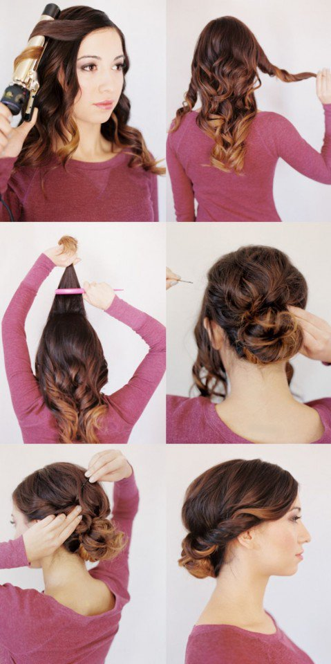 Pretty Twisted Lower Updo Hairstyle