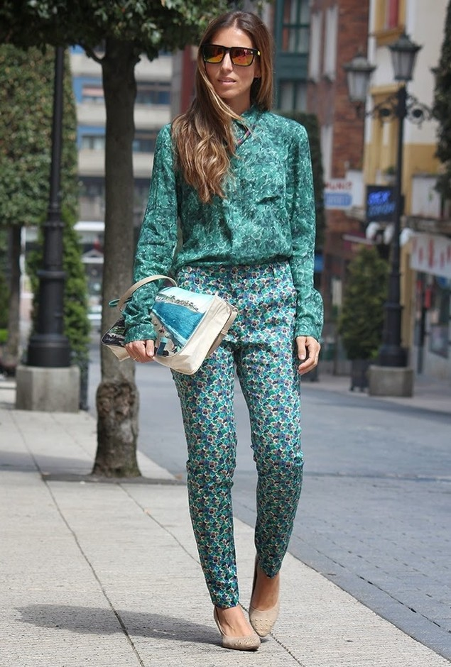 Printed Outfit for a Chic Look