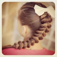 Pull Through Braid With Hair Bow