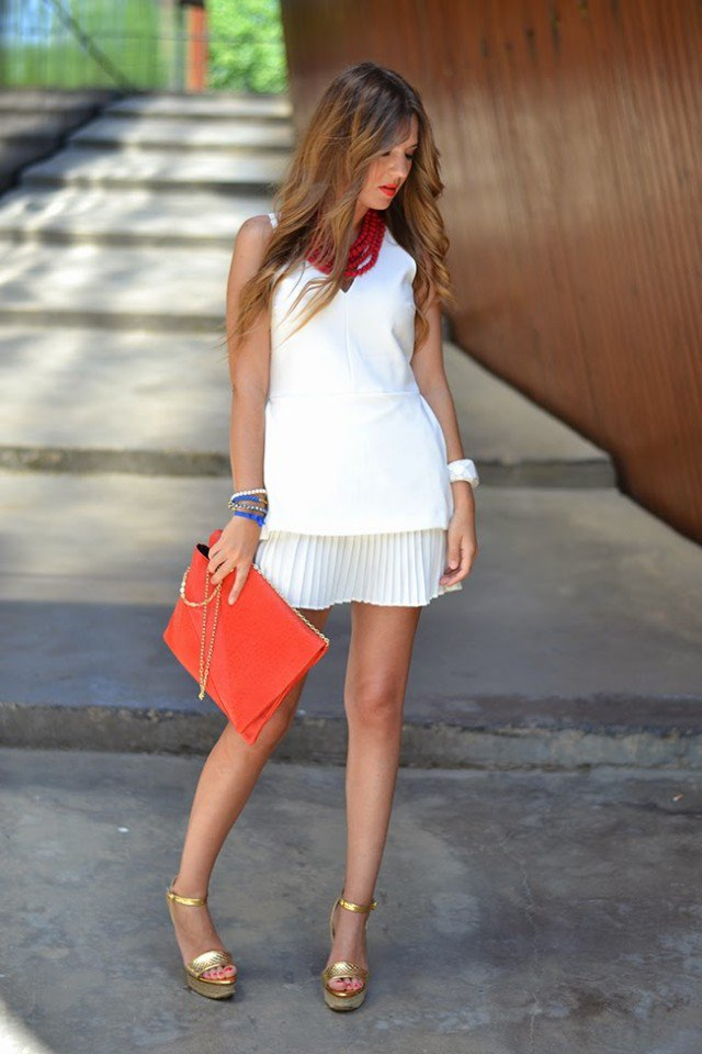 Pure White Dress Outfit Idea for Dates