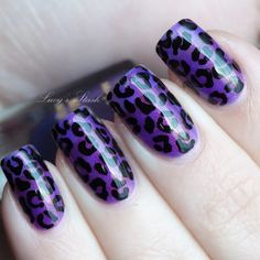 Pink and Silver Leopard Nail Art Design