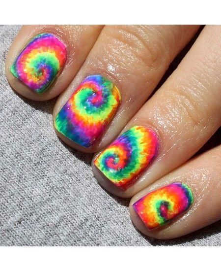 Rainbow Nail Art Design