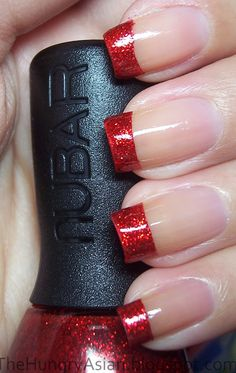Red Nails for French Manicure