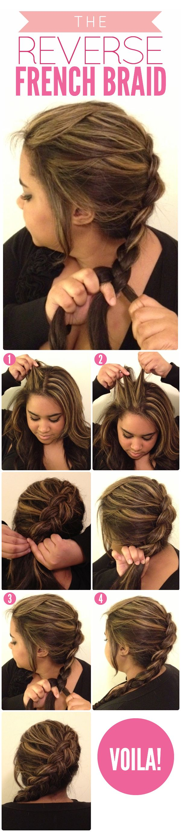 Pretty Hairstyles French Braid Tutorials Pretty Designs