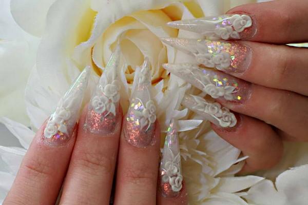 Shimmer 3D Nail Design