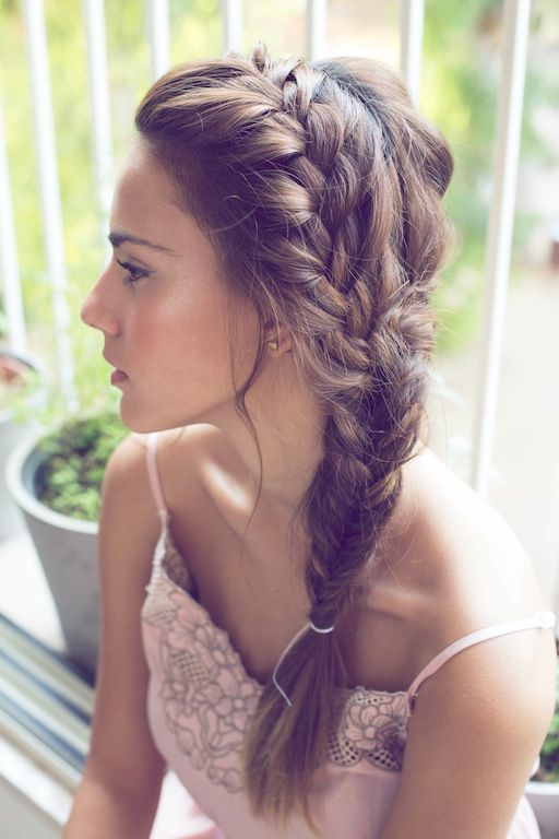 Side Fishtail Braid For Wedding Hairstyles