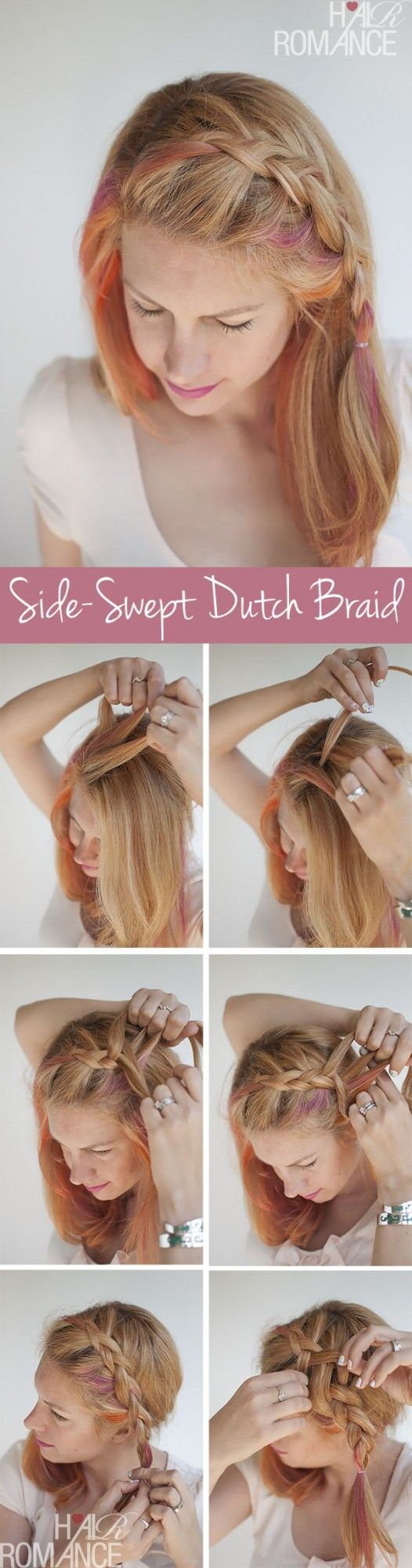 Side Swept Braid Hair You Won T Miss Hair Tutorials Pretty Designs