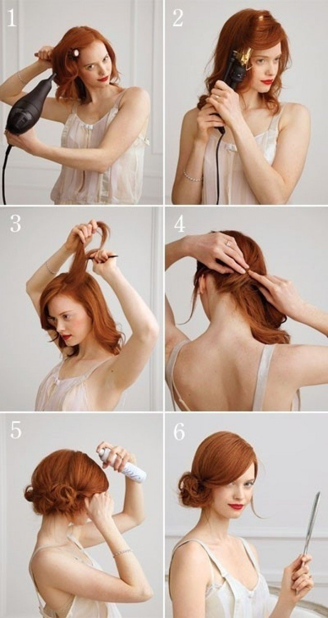 Side-swept Updo Hairstyle Tutorial