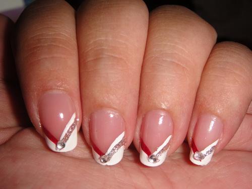 Simple Wedding Nail Design