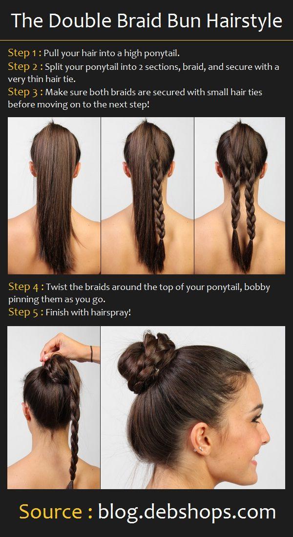 Phenomenal 14 Amazing Double Braid Bun Hairstyles Pretty Designs Hairstyles For Women Draintrainus