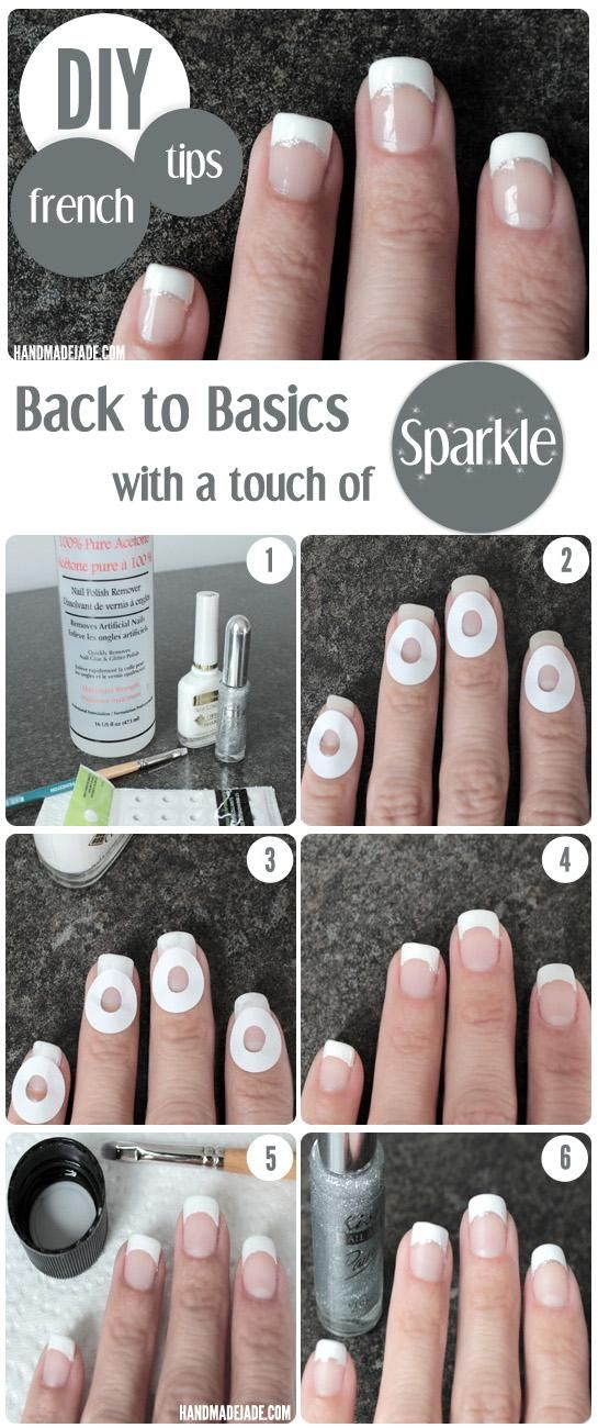 Sparkly French Manicure Tutorial