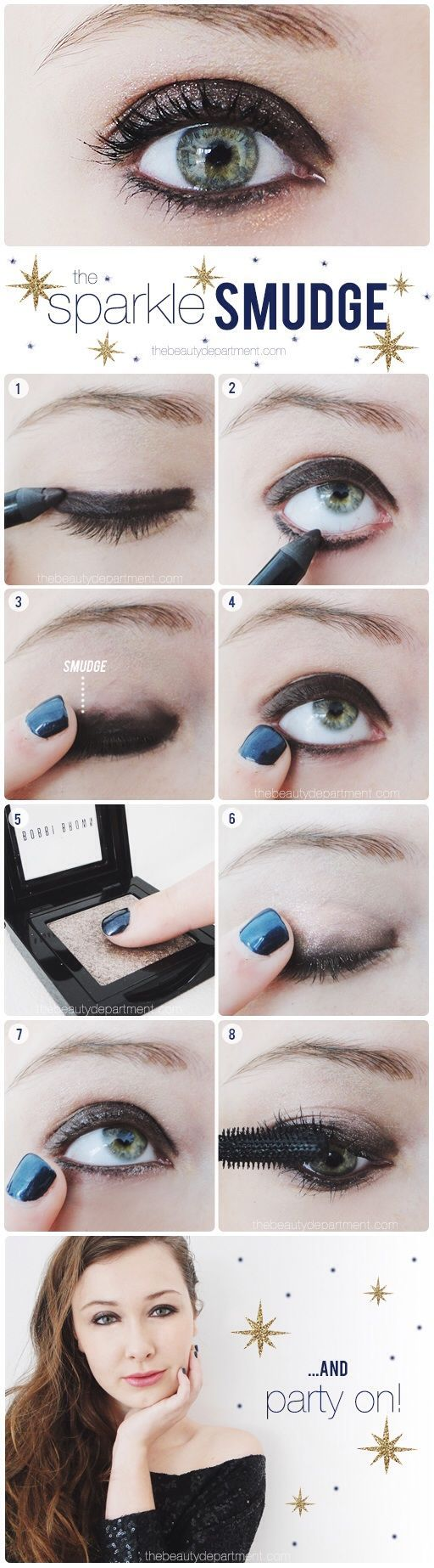 Sparkly Party Eye Makeup Tutorial