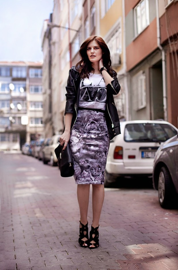 Stylish Printed Outfit Idea for Fall 2014