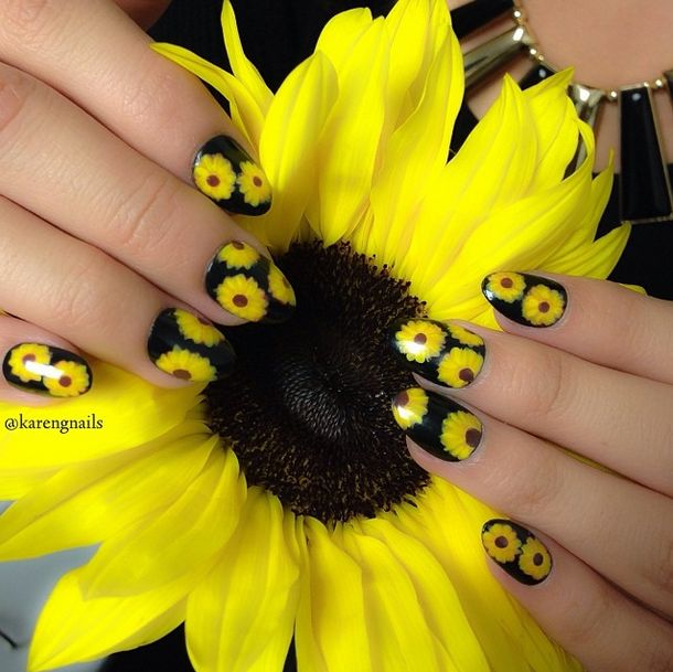 nail designs why not put flowers on nails pretty designs