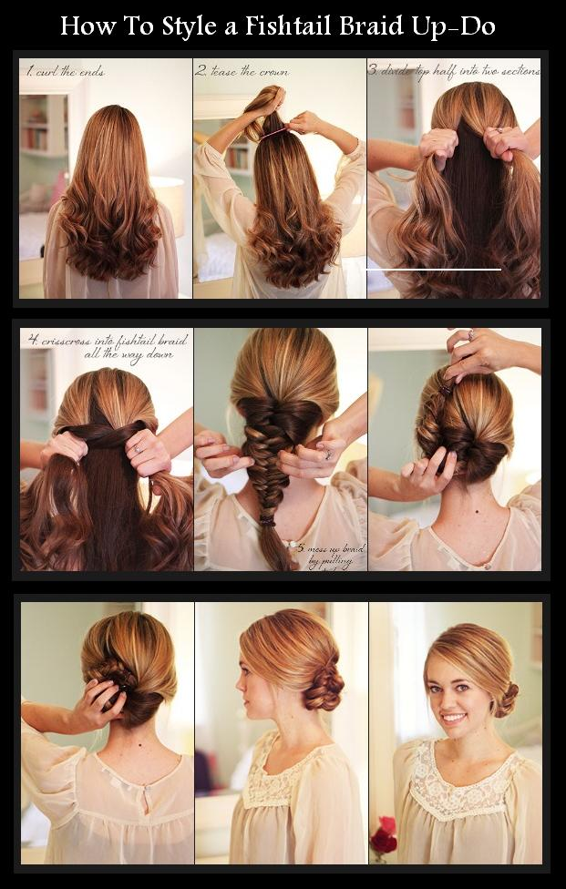 Sweet Braided Updo Hairstyle Tutorial