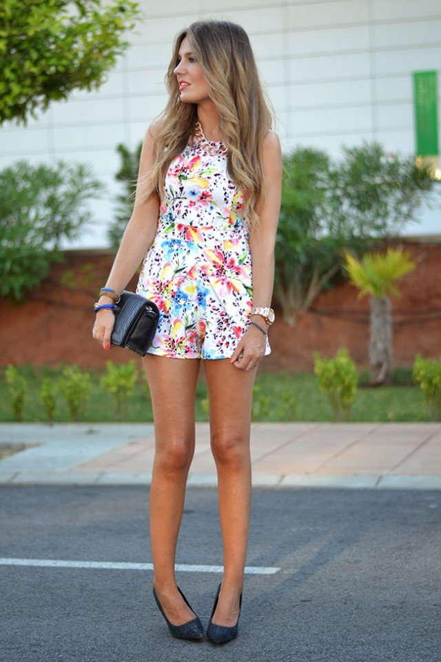 Sweet Floral Jumpsuit Outfit