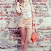 Trendy Outfit Idea with Crochet Shorts