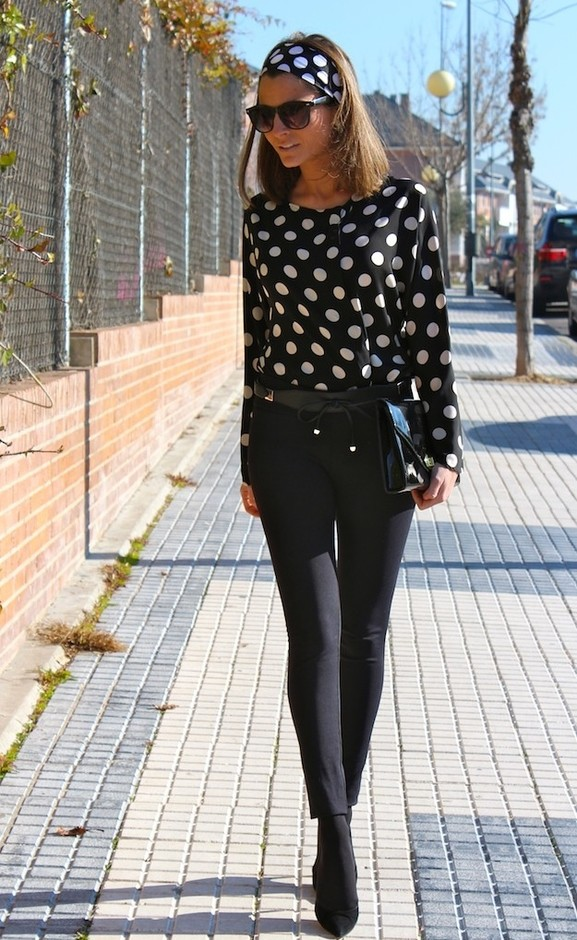 Trendy Outfit Idea with Polka Dots