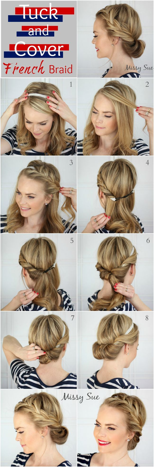 Fabulous How To Inside Out French Braid Bangs Braids Hairstyle Inspiration Daily Dogsangcom