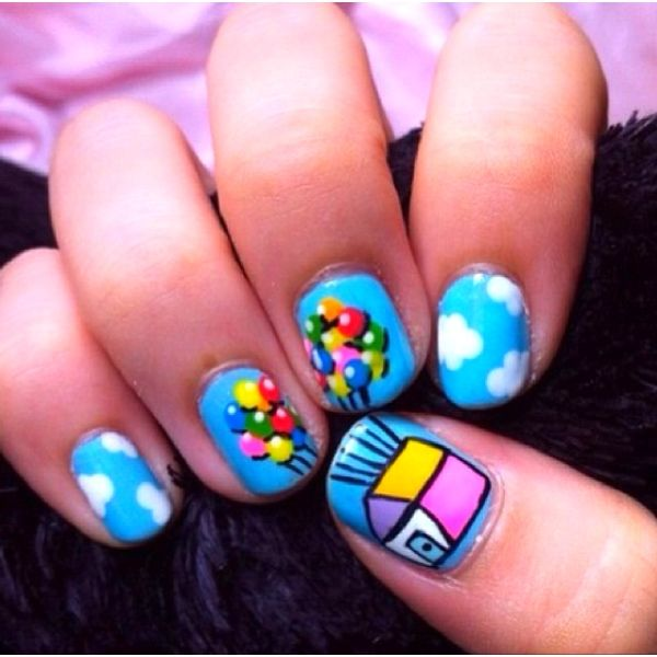 Up Themed Nails