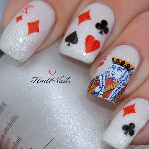 White Card Nail Design
