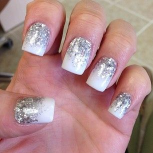 18 fantastic silver nail designs pretty designs white and silver nail design prinsesfo Gallery