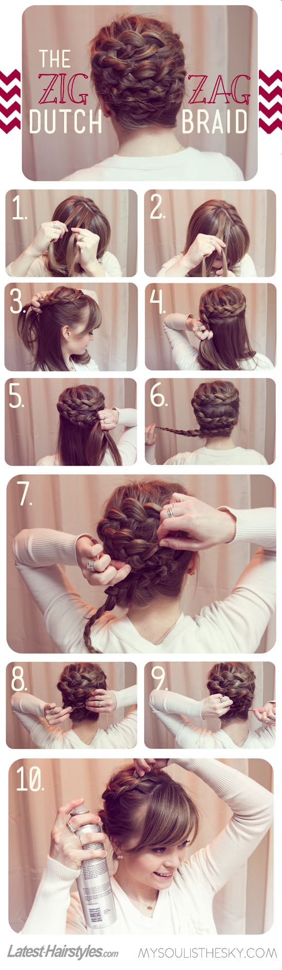 80a4e4d94 17 Stunning Dutch Braid Hairstyles With Tutorials - Pretty Designs