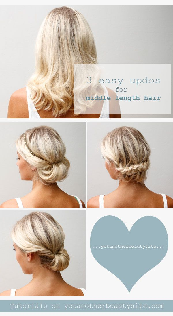 16 Pretty and Chic Updos for Medium Length Hair | Pretty Designs