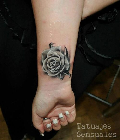 3D Rose Tattoo