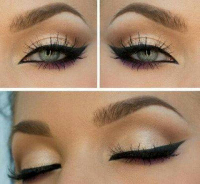Alluring Cat Eye Makeup Idea for Green Eyes