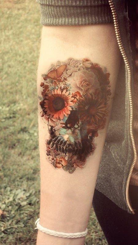 Artistic Plant Tattoo
