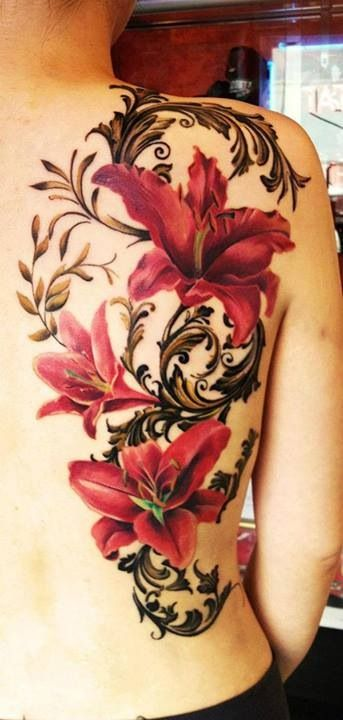 Back Flower Tattoo