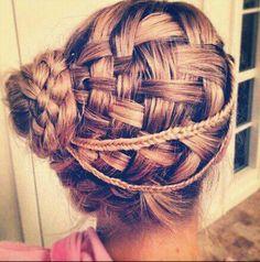 Basket Waved Braid Updo Hairstyle