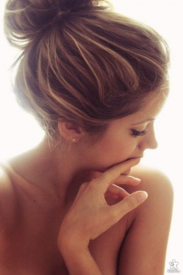 Hairstyle Bun : Beautiful Messy High Bun Hairstyles to Try - Pretty Designs