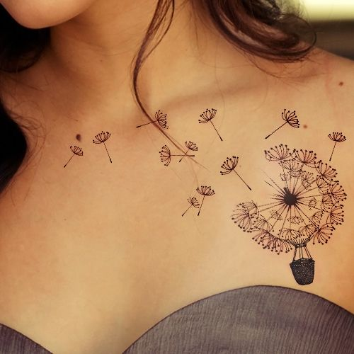 Beautiful Dandelion Tattoo