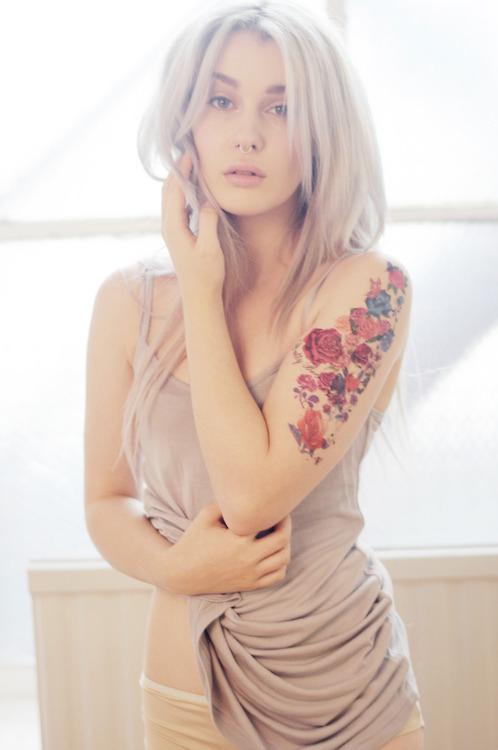 Beautiful Flowers Tattoo Design