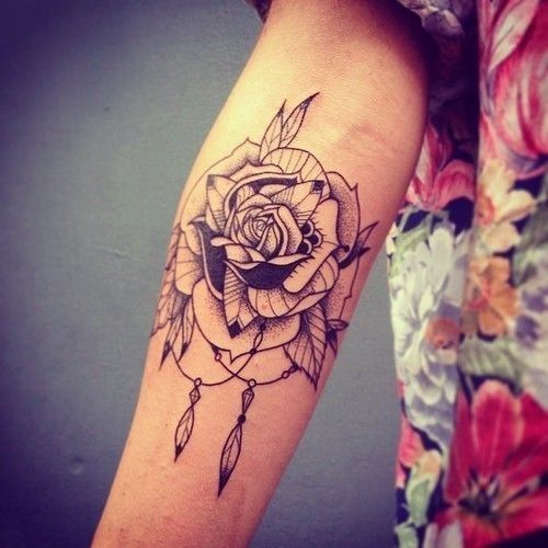 Beautiful Rose Tattoo