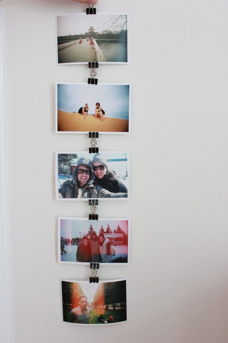 Binder Clip Photo Chain