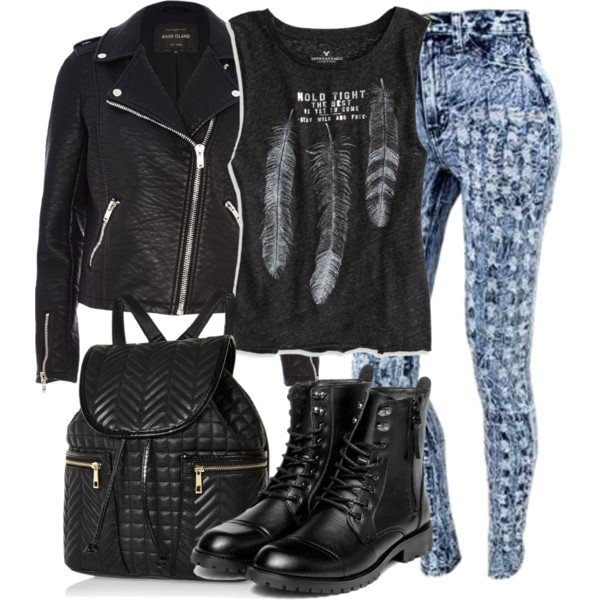 Fashionable Outfit Ideas with Leather Jackets for Fall 2017 - Pretty Designs
