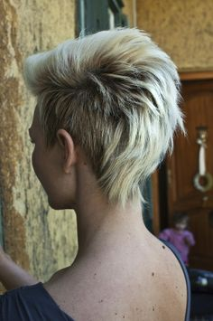 Blond Funky Hairstyle