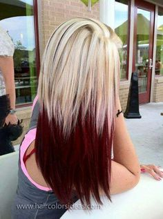Blonde Hair With Red Highlights