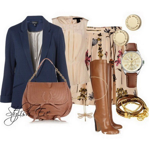 Blue Blazer Outfit for Fall