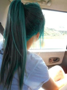 Blue Ponytail Hairstyle