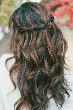 13 fabulous highlighted hairstyles for black hair pretty designs braided brunette highlighted long black wavy hairstyle pmusecretfo Image collections