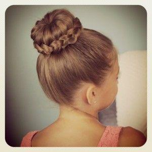 Braided Bun Hairstyle for School Girls