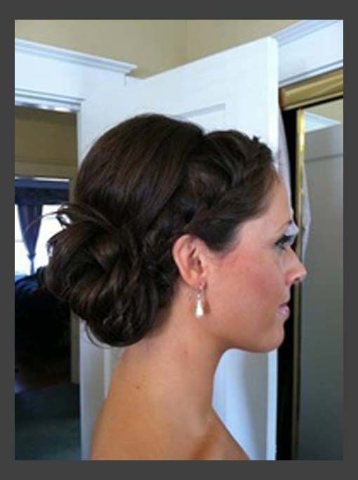 Braided Headband Updo for Medium Length Hair