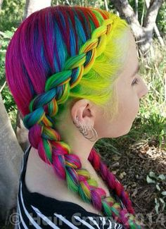 Braided Headband for Rainbow Hairstyle