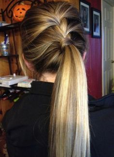 Braided Low Ponytail Hairstyle