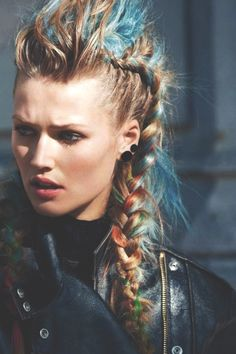 Braided Punk Hairstyle